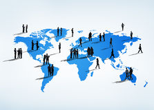 Business People all over the World.  Royalty Free Stock Image