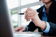 Business people analyse high performance solution. Stock Images