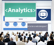 Business People Analytics Web Design Concept Royalty Free Stock Images