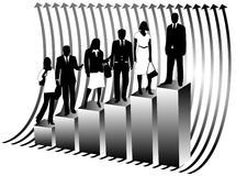 Business People And Map Stock Photos