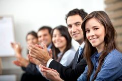 Business people applauding Stock Image