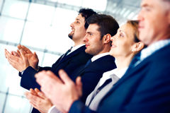 Business People Applauding. Royalty Free Stock Photo