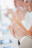 Business People Applauding. Hands of business people applauding Stock Image