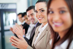 Business people applauding Royalty Free Stock Photography