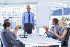 Business people applauding during meeting Royalty Free Stock Photography