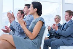 Business people applauding during meeting Royalty Free Stock Image