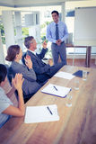 Business people applauding during a meeting Royalty Free Stock Image