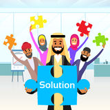 Business People Arab Group Hold Jigsaw Puzzle Royalty Free Stock Photography
