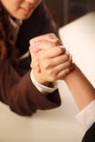 Business people arm wrestling Stock Photography