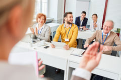 Business people as audience. In business consulting seminar Royalty Free Stock Image