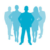 Business people as silhouette Stock Photography