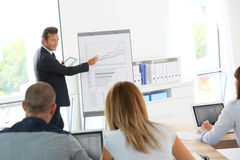 Business people attending business presentation Stock Image