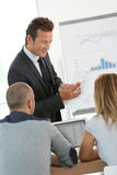 Business people attending presentation Stock Photos