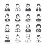 Business people avatar icons. stock illustration