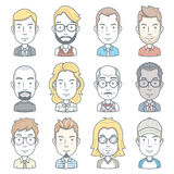 Business people avatar icons. Royalty Free Stock Photography
