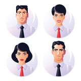 Business people avatar icons Royalty Free Stock Photo