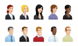 Business people avatar illustration vector illustration