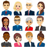 Business People Avatar Set Collection royalty free illustration