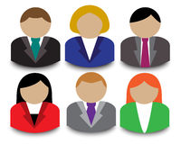Business people avatars Royalty Free Stock Images