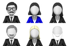 Business people avatars 3d Stock Image