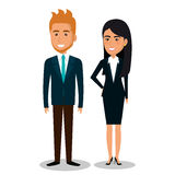 business people avatars icon Stock Photos