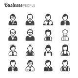 Business people avatars Royalty Free Stock Photography