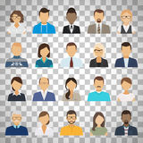 Business people avatars on transparent background royalty free illustration