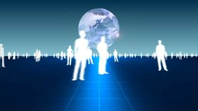 Business people on background stock footage