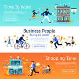 Business People Banner Set Royalty Free Stock Images