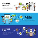 Business People Banners stock illustration