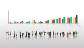Business people with bar chart Royalty Free Stock Photography