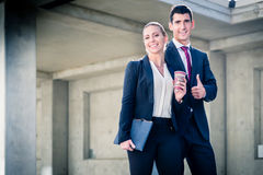 Business people being incredibly successful Stock Images
