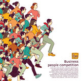 Business people big group competition color Stock Image