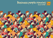 Business people big group competition color Royalty Free Stock Images