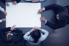 Business people and blank paper Royalty Free Stock Photos