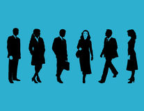 Business people on blue Stock Image