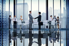 Business People Board Room Meeting Handshake Communication Conce