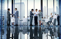 Business People Board Room Meeting Handshake Communication Conce. Pt royalty free stock photography