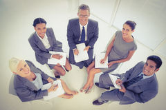 Business people in board room meeting. At the office Royalty Free Stock Photography
