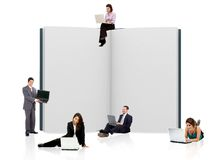 Business people with a book Stock Photos