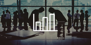Business People Bowing Discussion Communication Cityscape Meetin Stock Photo