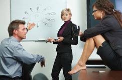 Business people brainstoming in office Royalty Free Stock Photography