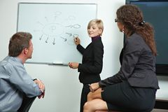 Business people brainstoming in office Royalty Free Stock Photos