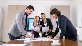 Business people brainstormin new ideas stock footage