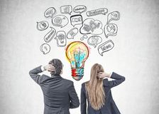 Business people brainstorming for best idea royalty free stock image
