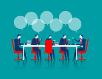Business people brainstorming. Concept busintss illustration. Vector flat Royalty Free Stock Photography