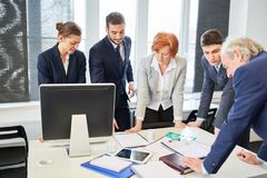 Business people brainstorming in meeting royalty free stock images