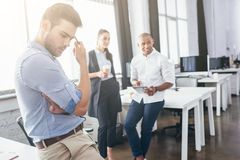 Business people brainstorming in office Royalty Free Stock Photos