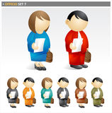 Business People with Briefcase stock illustration