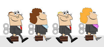 Business people with briefcases and keys Stock Photography